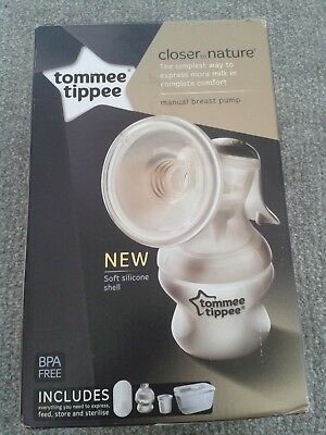 tommee tippee closer to nature manual breast pump. New, unused and in box