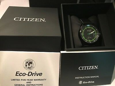 Brand New AW1184-05E Men's Citizen Eco-Drive watch. Box & Papers