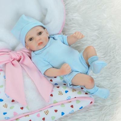"11"" Handmade Real Looking Newborn Baby Silicone Realistic Reborn Dolls Boy Gift"