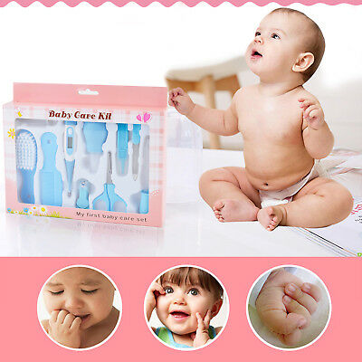 10X Baby Infant Health Care Set Nagelfeile Thermometer Grooming Pinsel Kit