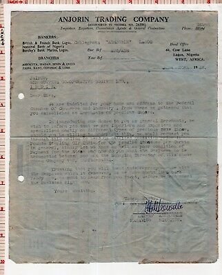 Licence Your Radio Slogan Air Mail Aerogramme from Nigeria to India 1958 #105001