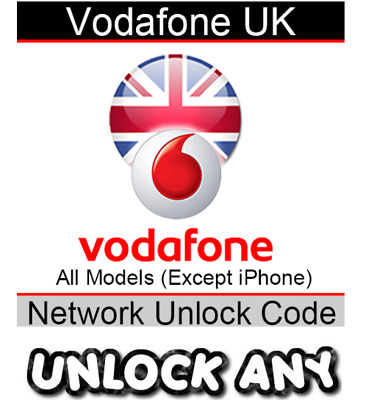 UNLOCK CODE SERVICE FOR Vodafone UK NOKIA LUMIA SAMSUNG HTC LG Huawei ANY OTHERS