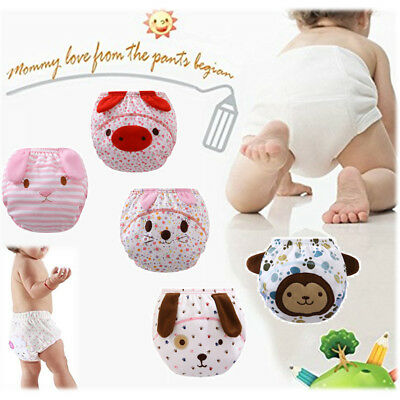 Prettyia Baby Boys Girls Pee Diaper Pants Cartoon Training Potty Nappy Underwear