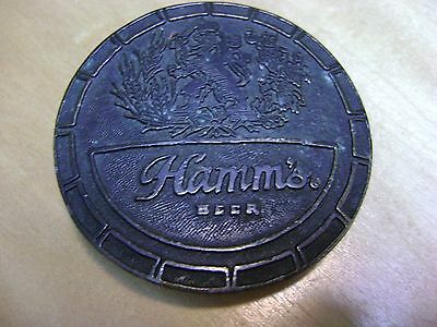Hamms Beer Alcohol Wyoming Art Works Belt Buckle