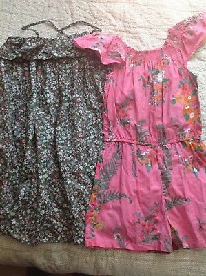 Girls Next Playsuits and Next Dress Flowery Pattern Age 11 12