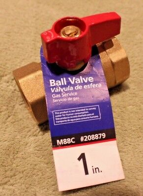 """American Valve M88C 208879 1"""" Gas Ball Valve with  Threaded Ends 1-Inch"""