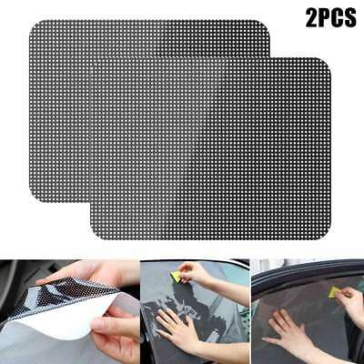 2pcs Universal Car Window Shade Sticker Reusable Cling Sunshade UV for Child