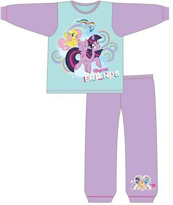 Girls Toddlers My Little Pony MLP Unicorn Long Sleeve Top NightWear Pjs Pyjamas