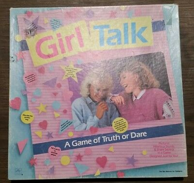Vintage Girl Talk A Game Of Truth Or Dare 1988 Incomplete