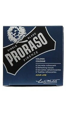 Proraso Azur Lime Refreshing Tissues Wipes (6-pack) SAME DAY POST-Aus Store