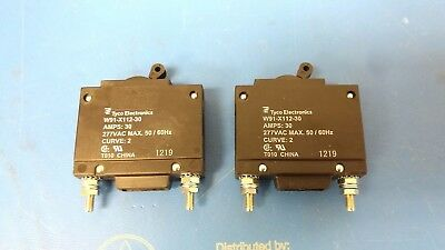 Lot of 2 pcs Potter & Brumfield 1-Pole, 30 Amp Circuit Breaker W91-X112-30