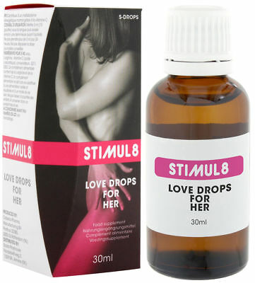STIMUL8 LOVE DROPS for HER ORGANIC Orgasm Spanish Fly Aphrodisiac Sex UK SELLER