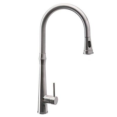 Kitchen Sink Faucet Pull Down Sprayer Single Handle Brushed Nickel 22.04'' NICE