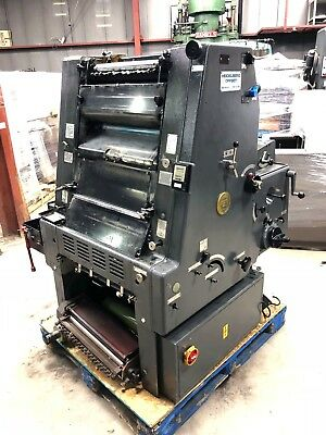 Printing press  Heidelberg  GTO 46-1 color - with numbering unit