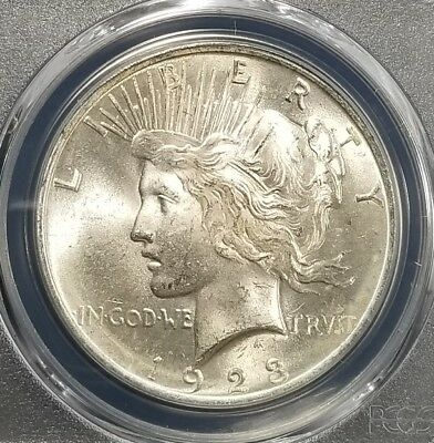 1923 Silver Peace Dollar PCGS MS64 (079)