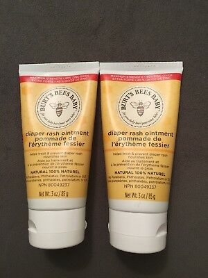 3a636b14a LOT OF 2 Burt s Bees BABY Diaper Rash Ointment 3oz - 100% NATURAL ...