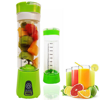 Portable Juicer Fruit Mixer Juice Blender 6 Blade USB Rechargeable 4000mAh,400ml