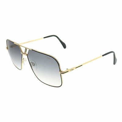 f9245d88d0c8 Cazal Legends 725 002SG Black Gold Metal Aviator Sunglasses Grey Gradient  Lens