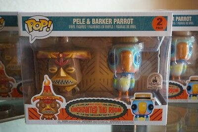 Funko Pop Enchanted Tiki Room 2 Pack Pele Parrot Disney Park Exclusive New