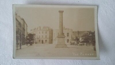 Monument on The Parade (but which Irish town?) - postcard