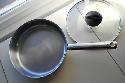 "Kuhn Rikon Stainless Steel  Pan / Skillet  ; 9.75"" wide by 2.25"" Deep Quality"