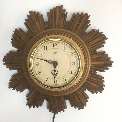 Star Burst Clock 1930s Vintage Smiths Electric For Restoration Not Working