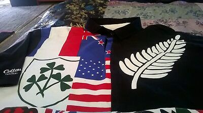 Rugby flags polo top xl
