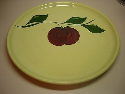 Vintage Watt Pottery # 49 3 Leaf Apple Chop Plate