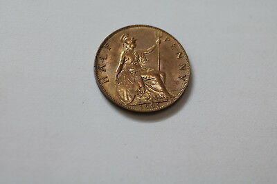 Uk Gb Half Penny 1901 Victoria Lovely Details A93 #pk9071