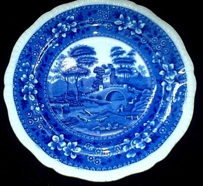 COPELAND SPODE'S TOWER Blue/White Round  9 3/8 inch Plate c1905?