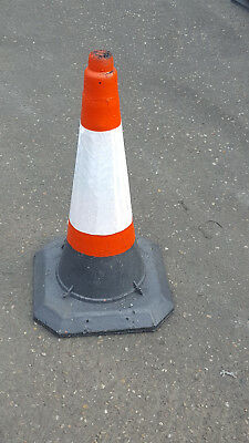 Heavy Duty Self Weighted 750mm Road Traffic Cones (Pack of 15 Cones)