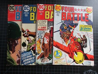 Dc Four Star Battle Tales #1-4 1973 Htf Title