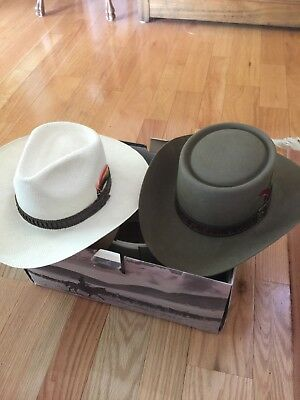 Stetson Hats Size 7 1/8 - Natural / Brown