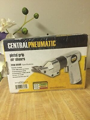 Brand New Central Pneumatic 98580 Air Shears Cuts Up To 18 Gauge Steel