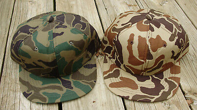 Pair Vintage -YOUNGAN- Snapback Hats Camo - Full Back -Hunting- Camouflage hats