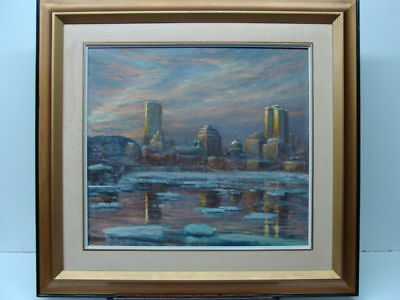 Canadian Elizabeth O'Rourke Spring Sunset over Montreal Painting