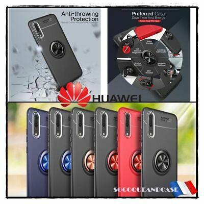 Etui Coque housse magnétique Finger Ring Case Cover HUAWEI & HONOR (All models)