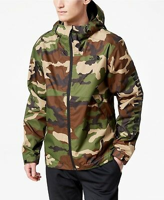 c4e06edfe THE NORTH FACE Men's Millerton Hooded Rain Jacket Large Green Camo MSRP $115