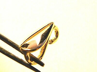 9ct Yellow Gold Large Chain Loop Pendant Bail -Findings 4 Fine Jewellery- 9K