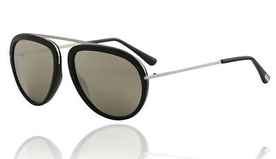 887d2a8dcc19 Tom Ford FT0452 01C Stacy Black Frame Smoke Mirror Men s Womens Sunglasses  Italy