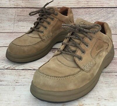 ba5d046f72427 Clarks Active Air Mens Size 8.5 Oxford Shoes Lace Up Tan Suede Leather 37503