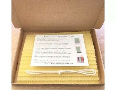 Beeswax Candle Making Kit, 10 Natural Beeswax sheets, Instruction, Wick, Wax