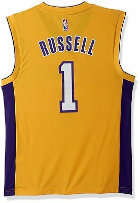 c81e0b042 adidas Men s D Angelo Russell Los Angeles Lakers Swingman Jersey-XL