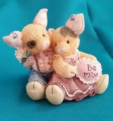 2 Vintage Enesco This Little Piggy Figurines 130958 To Hog & To Hold 159484 SYBM