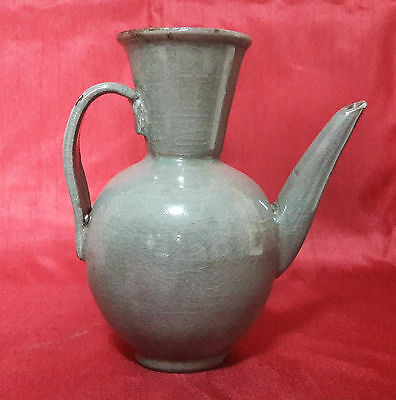 Antique Chinese 9th Century Song Dynasty Yue Celadon Glazed Ewer