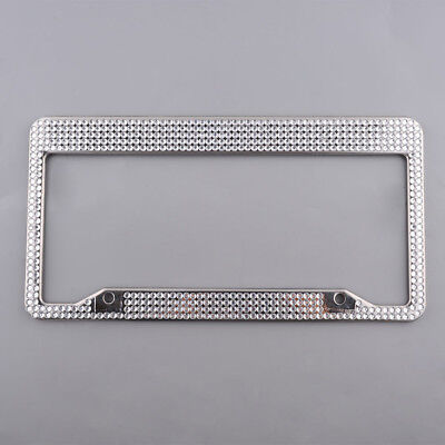 Stainless Steel Car License Plate Frame Tag Cover Holder With Screw Caps AU Ship