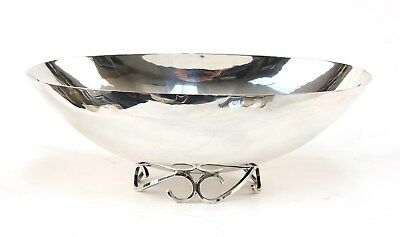 Hand Wrought Sterling Modernist Center Bowl by Sciarrotta #116
