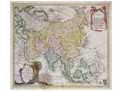Asia Antique map Tab. Geogr. Asiae Leonhard Euler 1760