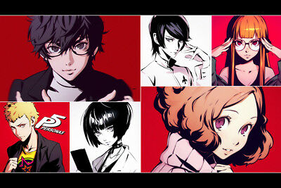 30x20 36x24 Silk Poster Persona 5 Hot Characters Video Game T-563