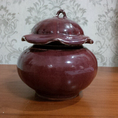 Chinese Antique Ox-Blood Small Jar with cover